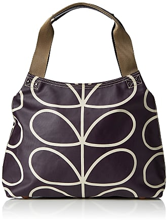 Orla Kiely Womens Matt Laminated Linear Stem Classic Zip Shoulder Handbag, Multicolour (Orchid), 36x25.5x11.5 cm (W x H x L)
