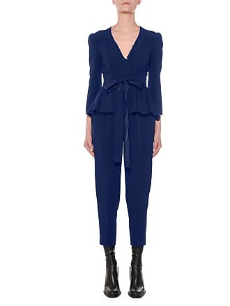 16cd1f5a33ec Stella McCartney Liliana V-Neck Button-Front Tie-Waist Peplum Slim Leg  Jumpsuit