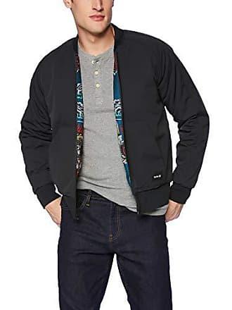 Hurley Mens Indo Souvenir Bomber Jacket, Black, M