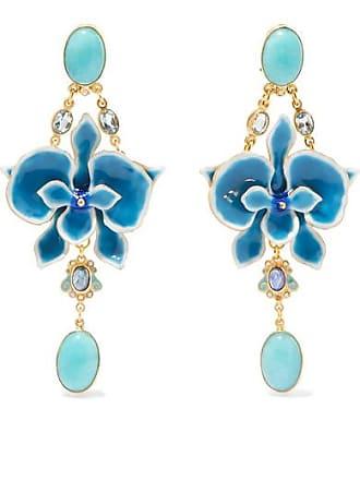 47cd0feb0 Percossi Papi Gold-plated And Enamel Multi-stone Earrings - Blue
