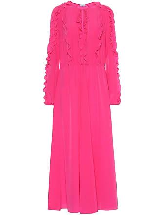 Red Valentino Ruffled silk dress