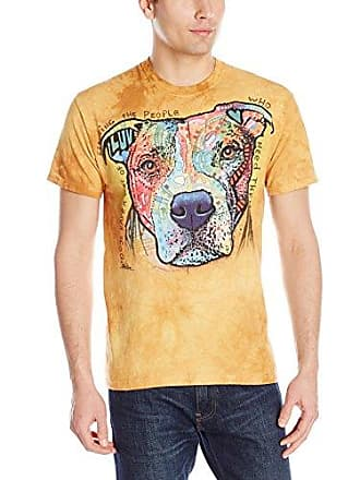 The Mountain Dogs Have A Way Adult T-Shirt, Yellow, Large