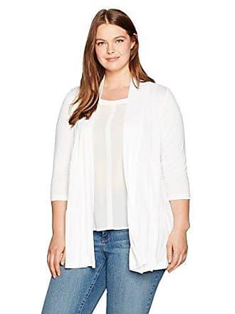 Karen Kane Womens Plus Size Tiered Jacket, Off Off White, 1X