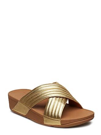 f7f9e5ea13e0 FitFlop Lulu Padded S Platta Sandaler Guld FITFLOP