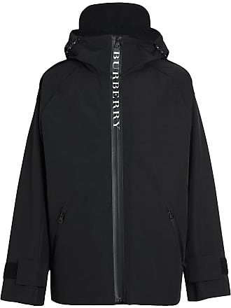 Burberry Bungee Cord Detail Hooded Parka - Black