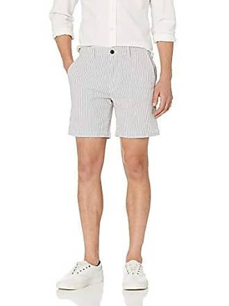 Goodthreads Mens 7 Inseam Stretch Seersucker Short, Light Blue/White Stripe, 31