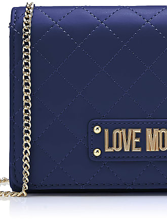 Love Moschino Quilted Nappa Pu, Womens Clutch, Blue (Blu), 15x10x15 cm (W x H L)