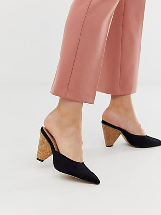 Qupid Qupid wood detail heeled shoes - Black
