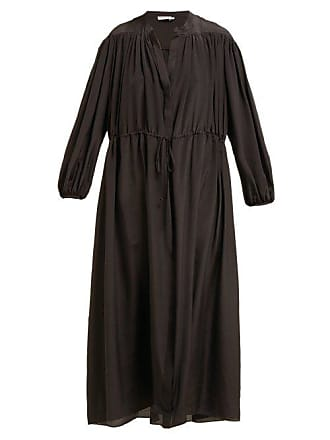 Three Graces London Julienne Silk Shirtdress - Womens - Black