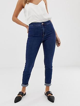 New Look Mellanblå skinny jeans med hög midja - Mellanblå b23ef1d6fe8f8