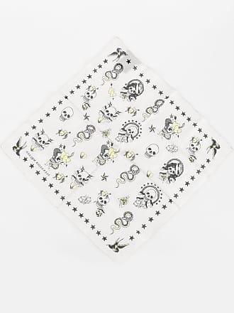 Alexander McQueen 50x50 Skull Printed Handkerchief size Unica