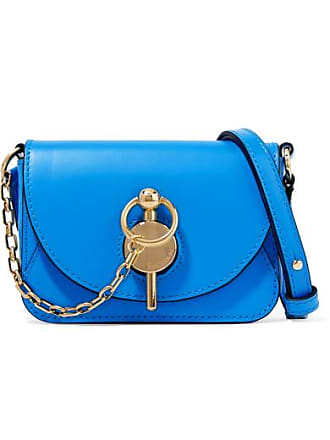 J.W.Anderson Nano Keyts Leather Shoulder Bag - Bright blue