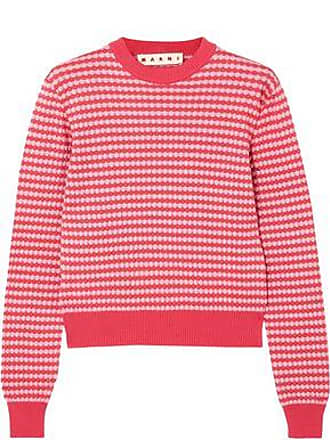 Marni Marni Woman Striped Crochet-knit Cotton Sweater Pink Size 40