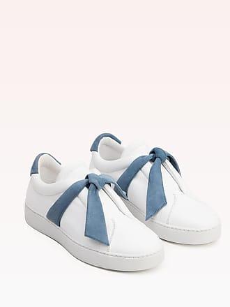 Alexandre Birman Clarita Leather Sneaker - 35 Light Blue Leather