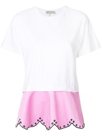 Emilio Pucci Camiseta em camadas com bordado - Branco