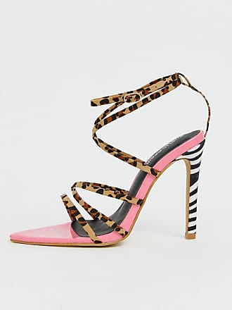 bbadb4172a24 Public Desire Safari mixed animal print strappy heeled sandals