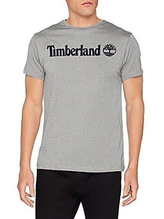 7da0052e17dea1 Timberland SS Crew Linear Logo Tee T-Shirt, Grigio (Medium Grey Heather 052