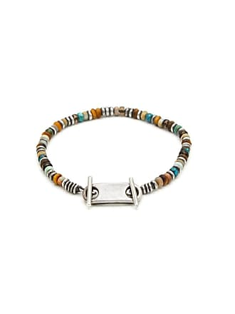 M. Cohen Multicolor 9 Mm Silver Plated Beaded Bracelet - The Webster