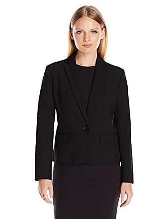 Ellen Tracy Womens Petite Size One Button Blazer, El/Black, 14