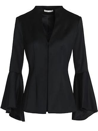 Alice & Olivia Alice + Olivia Woman Ivana Fluted Wool-blend Twill Blazer Black Size 0
