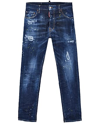 ee5d77ea8962a Dsquared2 Blue slim distressed jeans