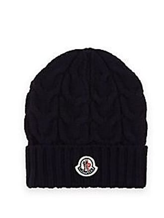 Moncler Kids Cable-Stitch Wool Beanie - Navy Size 8 10 YRS 1cc8fb7dddc