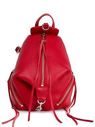 Rebecca Minkoff Rebecca Minkoff Woman Textured-leather Backpack Red Size