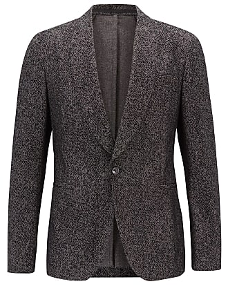 BOSS Slim-fit dinner jacket in patterned velvet