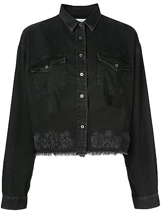Iro oversized cropped denim shirt - Black
