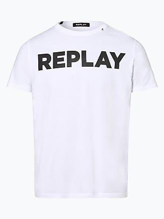 486f65703a680 Replay Herren T-Shirt weiss