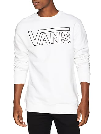 5103b5ccdffb Vans Apparel Menss Classic Crew Sweatshirt White-Black Outline Pn7