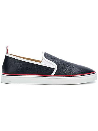 Thom Browne contrast slip-on sneakers - Blue