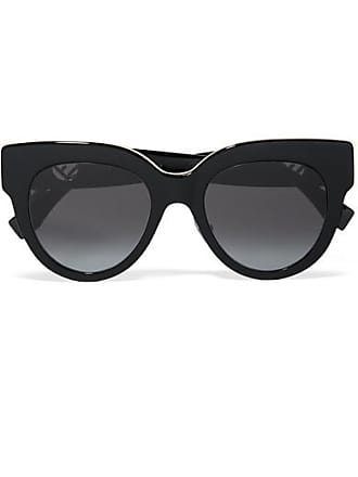 Fendi Oversized Cat-eye Acetate Sunglasses - Black