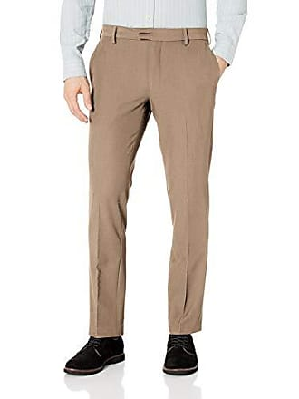 Van Heusen Mens Slim Fit Flex Flat Front Dress Pant, Khaki, 36W x 29L