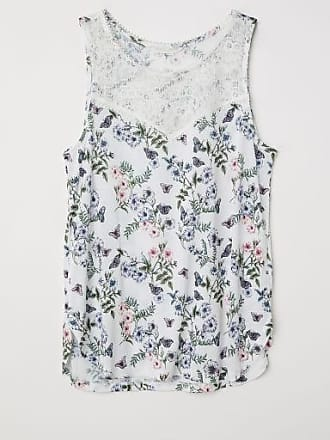 H&M Sleeveless Jersey Top - White