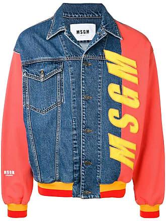 Msgm oversized denim jacket - Blue