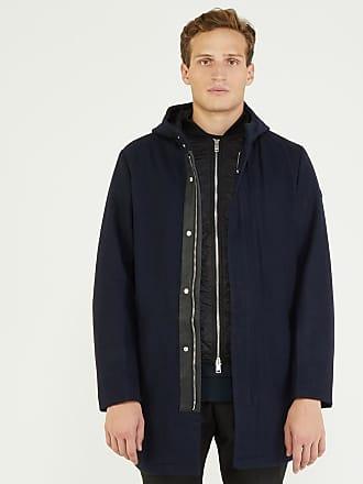 Armani Manteau en laine à doublure matelassée amovible Bleu Armani Exchange bb85050373d3