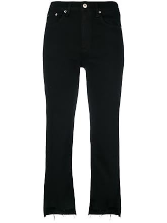 Rag & Bone frayed cropped jeans - Black
