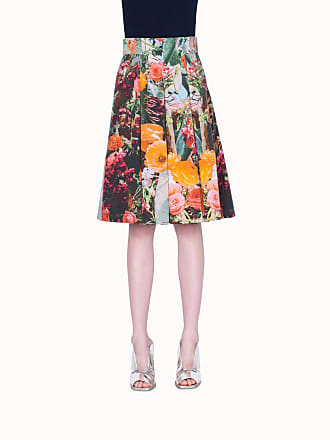 Akris Bell Skirt with Floral Print