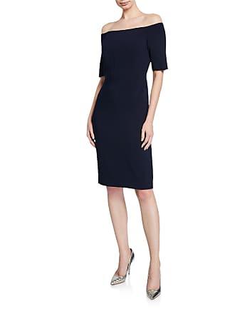 Iconic American Designer Off-the-Shoulder Sheath Dress