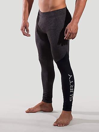 Surty Calça Legging de Compressão Masculina Surty Elite Cross Cor:Cinza;Tamanho:GG