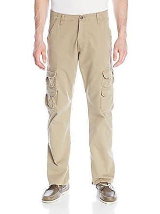 Wrangler Authentics Mens Premium Twill Cargo Pant, British Khaki, 30x32