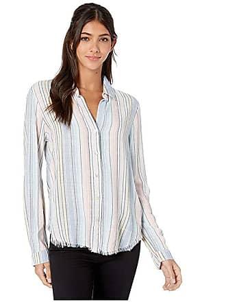 0df9e0e88 Bella Dahl Hombre Horizon Stripe Fray Hem Button-Down Blouse (Ombre  Horizon) Womens