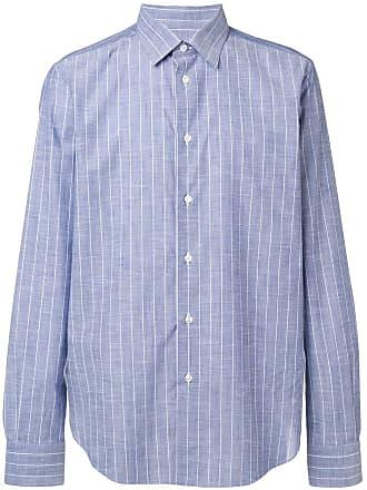 Brioni Camisa listrada - Azul