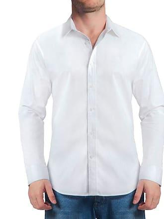 Sergio K. Camisa Premium Dobby White Chess Branco