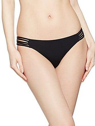 Seafolly Womens Brazilian Multi Strap Bikini Bottom Swimsuit, Active Black, 6 US
