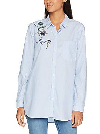 Tom Tailor Damen Bluse Striped Shirt with Embroidery 95bc10268e