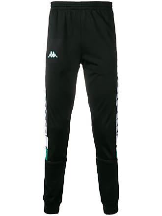 Kappa contrast logo track pants - Black