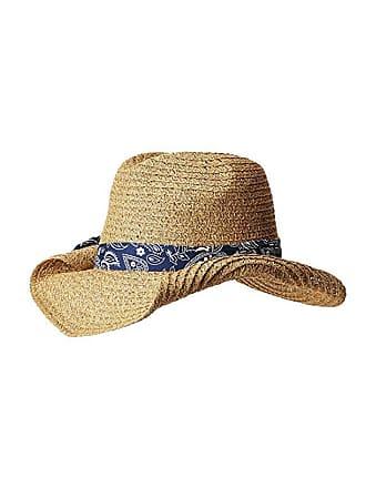 a21242db San Diego Hat Company PBC2451 Paper Cowboy w/ Bandana Print Band  (Natural/Blue
