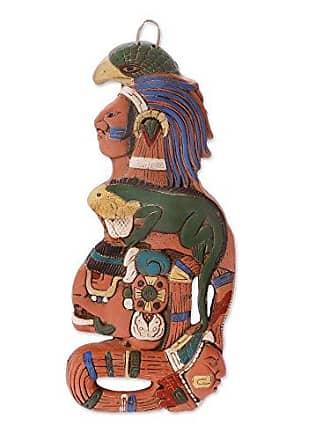 Novica 112667 Maya Lord of The Sky Ceramic Mask